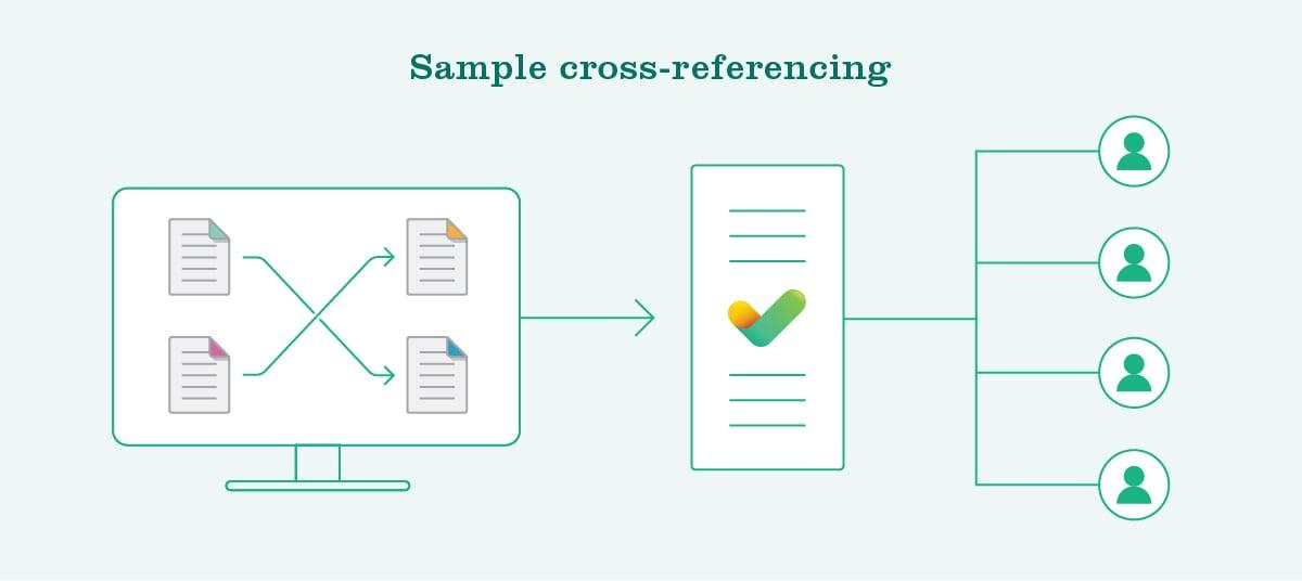 Sample cross-referencing